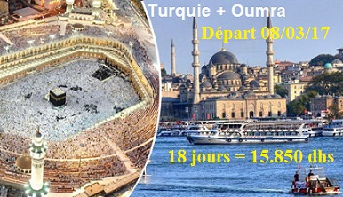 Istanbul+Oumra (18jours)